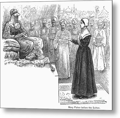 Quaker Missionary, 1658 Metal Print by Granger