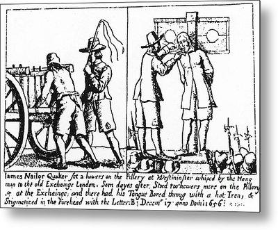 Quaker Persecution Metal Print by Granger