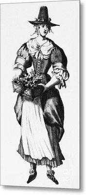 Quaker Woman, 17th Century Metal Print by Granger
