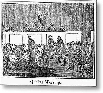 Quaker Worship, 1842 Metal Print by Granger