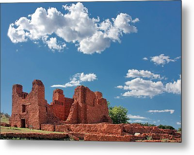Quarai Ruins At Salinas Pueblo Missions National Monument Metal Print by Christine Till