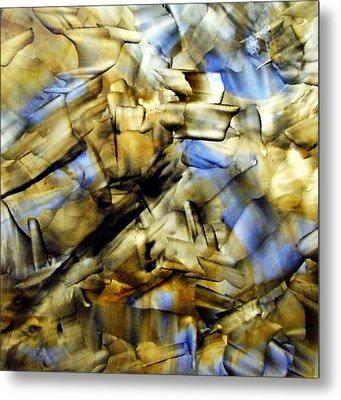 Quasi Scape Blue Metal Print by Turgay Denizel