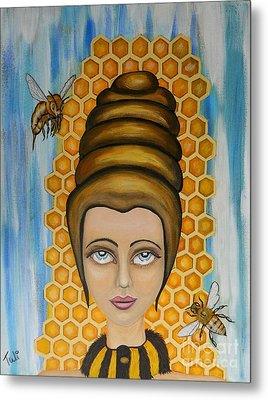 Queen Bee And The Nectar Of The Gods Metal Print by Claudia Tuli