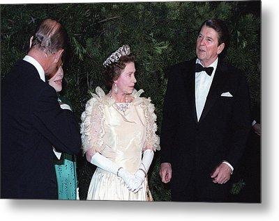 Queen Elizabeth II And Prince Philip Metal Print by Everett