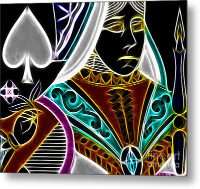 Queen Of Spades - V4 Metal Print by Wingsdomain Art and Photography