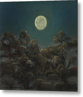 Quiet Night Metal Print by Anna Folkartanna Maciejewska-Dyba