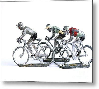 Racing Cyclist Metal Print by Bernard Jaubert