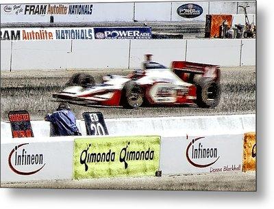 Racing Metal Print by Donna Blackhall