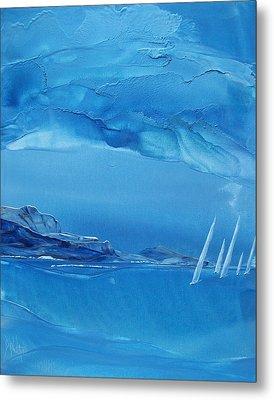 Racing Sailboats Metal Print by Danita Cole