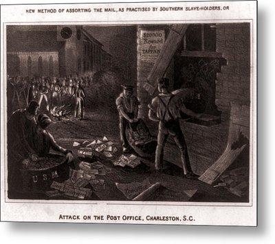 Raid On The Charleston Post Office Metal Print by Everett