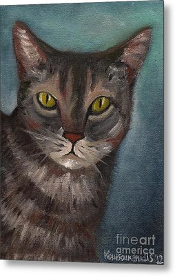 Rain The Cat Metal Print by Kostas Koutsoukanidis