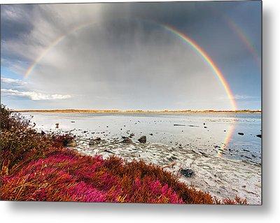 Rainbow By The Lake Metal Print by Evgeni Dinev