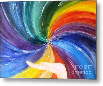 Rainbow For My Son Metal Print by AmaS Art