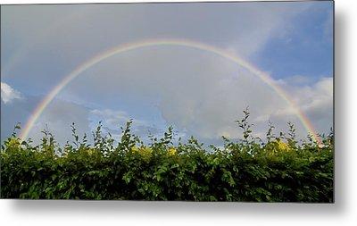 Rainbow In Warwick Metal Print by Vicki Jauron