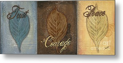 Rainbow Leaves 2 Metal Print by Debbie DeWitt