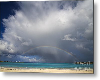 Rainbow Over Emerald Bay Metal Print by Dennis Hedberg