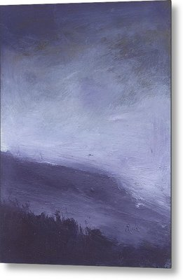 Rainstorm Over Stenbury Down Metal Print by Alan Daysh