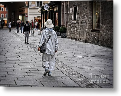 Rainwear In Salzburg Metal Print by Mary Machare