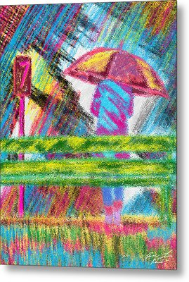 Rainy Day Metal Print by Pierre Louis