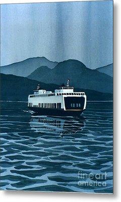 Rainy Ferry Metal Print by Scott Nelson