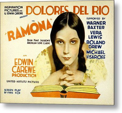 Ramona, Dolores Del Rio, 1928 Metal Print by Everett