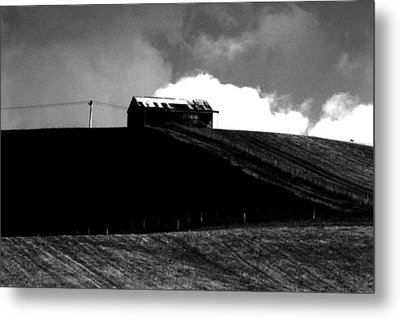 Ranch Building And Clouds Metal Print by Noel Elliot