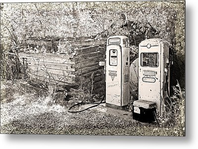 Ranch Gas Pumps Metal Print by Lenore Senior and Dawn Senior-Trask