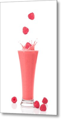 Raspberry And Strawberry Smoothie Metal Print by Amanda And Christopher Elwell