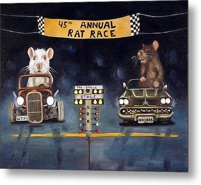 Rat Race Darker Tones Metal Print by Leah Saulnier The Painting Maniac