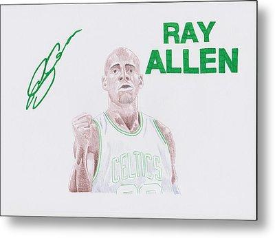Ray Allen Metal Print by Toni Jaso