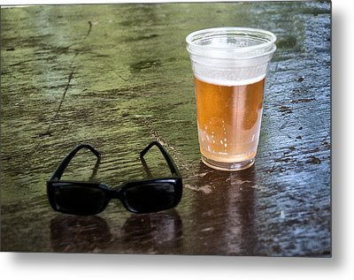 Raybans And A Beer Metal Print by Bill Cannon