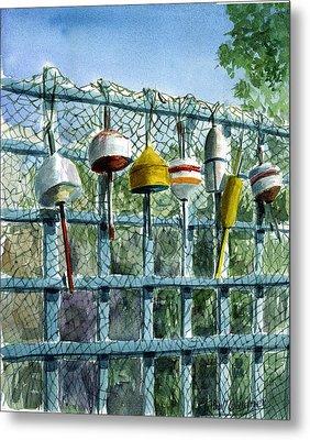 Ray's Fence Metal Print by Paul Gardner
