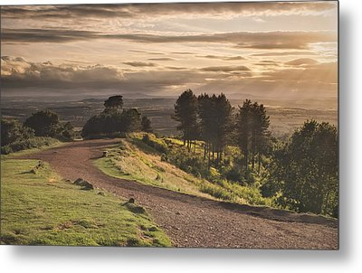 Rays Of Sunlight Over Clent Countryside Metal Print by Verity E. Milligan