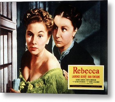 Rebecca, From Left Joan Fontaine Metal Print by Everett