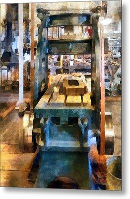 Reciprocating Flatbed Planer Metal Print by Susan Savad