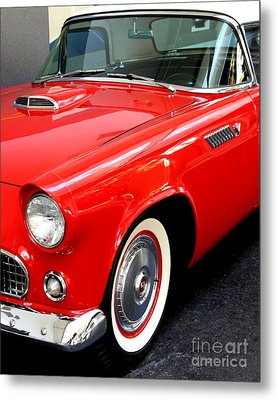 Red 1955 Ford Thunderbird Metal Print by Wingsdomain Art and Photography
