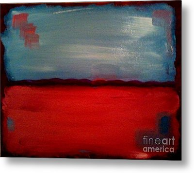 Red And Blue Metal Print by J Von Ryan