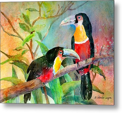 Red-breasted Toucans Metal Print by Arline Wagner