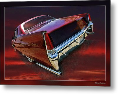 Red Cadillac Metal Print by Blake Richards