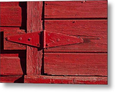 Red Door Henge Metal Print by Garry Gay
