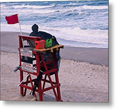 Red Flag Day Metal Print by Roger Wedegis