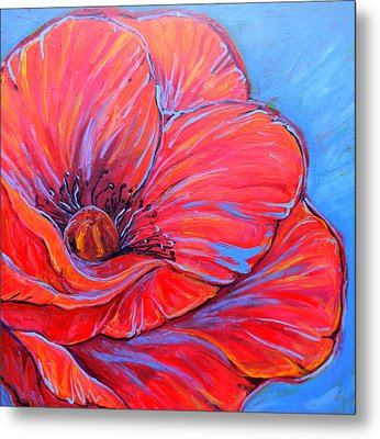 Red Poppy Metal Print by Jenn Cunningham