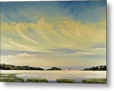 Red Sails Metal Print by Diana  Tyson