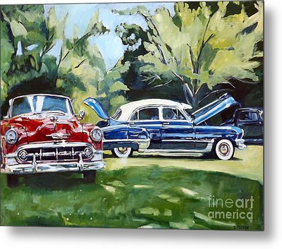 Red White And Blue Metal Print by Deb Putnam
