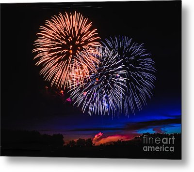 Red White And Blue Metal Print by Robert Bales