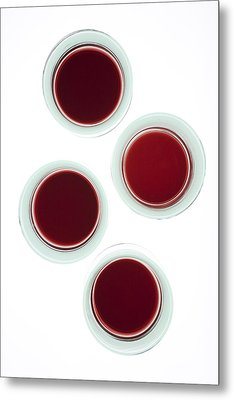 Red Wine Glasses Metal Print by Frank Tschakert