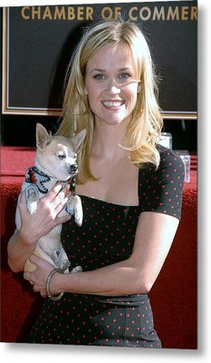 Reese Witherspoon At The Induction Metal Print by Everett
