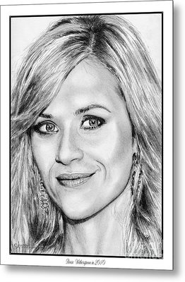 Reese Witherspoon In 2010 Metal Print by J McCombie
