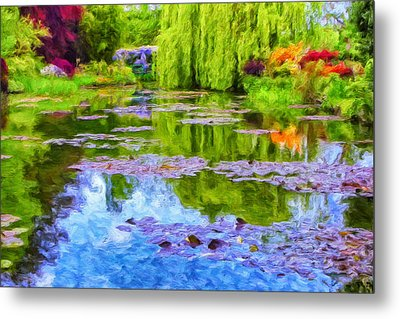 Reflections At Giverny Metal Print by Dominic Piperata