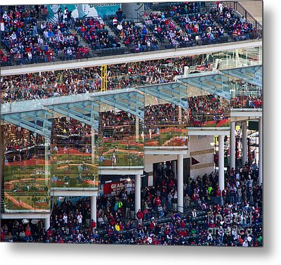 Reflections On Opening Day Metal Print by Jeremy Fear